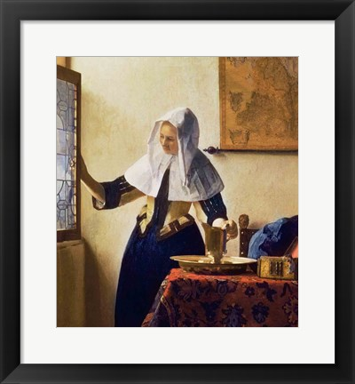 Framed Young Woman with a Water Jug Print