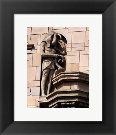 Framed Carving Statue Print
