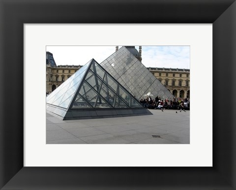 Framed Louvre Pyramid in Paris Print