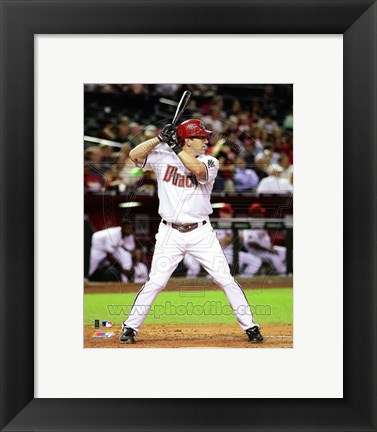 Framed Willie Bloomquist 2011 Action Print