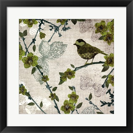 Framed Birds and Butterflies II Print