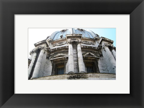 Framed Rome San Pietro Rood Exterior of a Small Dome Print