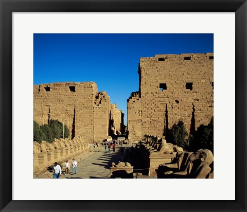 Framed Avenue of Sphinxes, Temples of Karnak, Luxor, Egypt Print