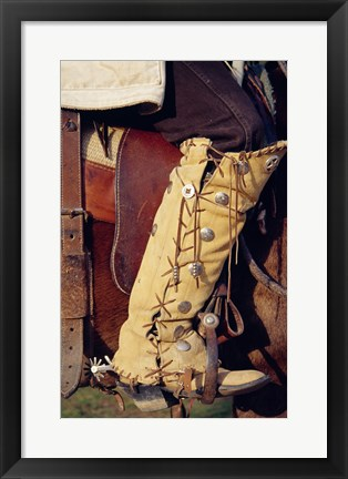 Framed Cowboy's hand made boots Print
