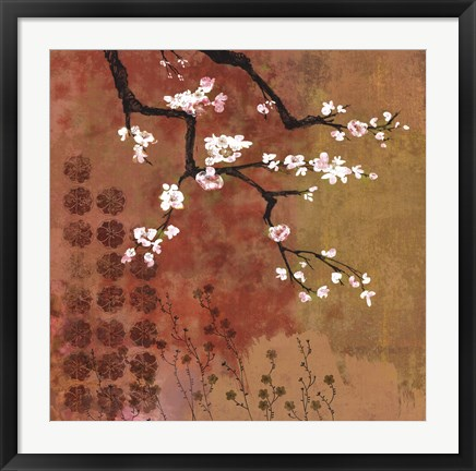 Framed Japanese Branch Floral Print