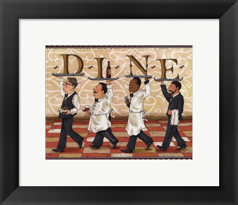 Framed Waiters Dine Print