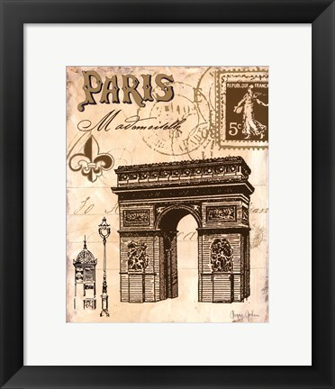 Framed Paris Collage II Print