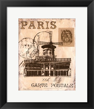 Framed Paris Collage IV Print