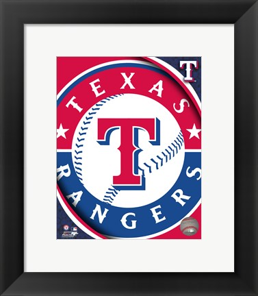 Framed 2011 Texas Rangers Team Logo Print