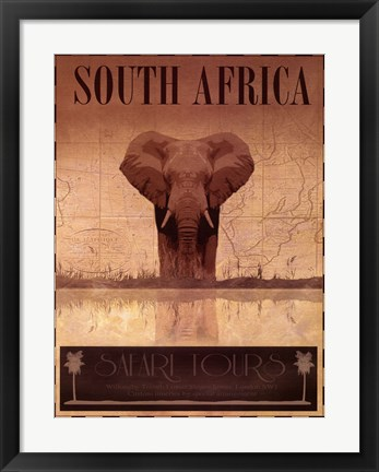 Framed South Africa Print