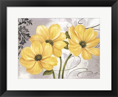 Framed Colori Yellow I Print