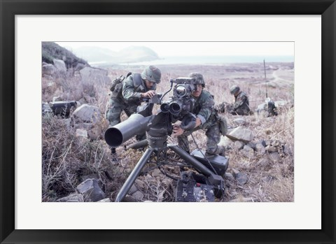 Framed United States Marines Tow Anti-Tank Weapons Print