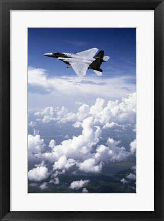 Framed F-15 Eagle Fighter  United States Air Force Print