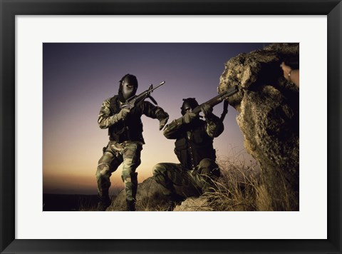 Framed SWAT Team United States Military Print
