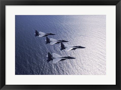Framed F-15 Fighters US Air Force Print