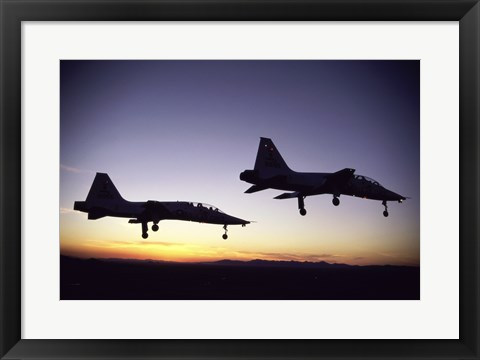 Framed US Air Force  T-38 Trainers Print