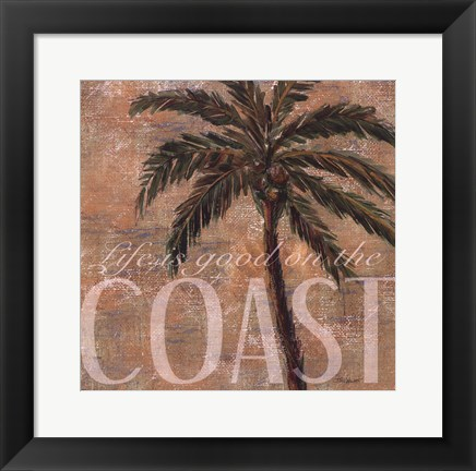 Framed Coastal Palm Print