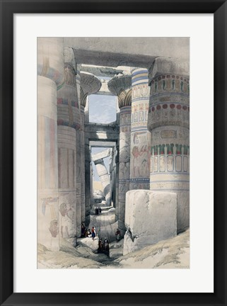 Framed Temple of Karnacs Egypt Print