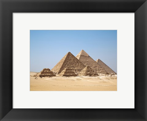 Framed All Gizah Pyramids Print