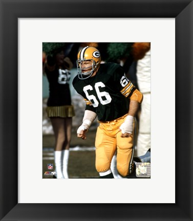 Framed Ray Nitschke Action Print