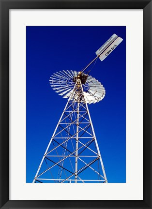 Framed Low angle view of a windmill Print