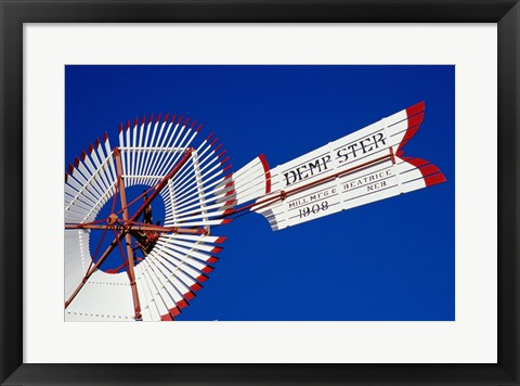 Framed Low angle American Wind Power Center, Lubbock, Texas Print