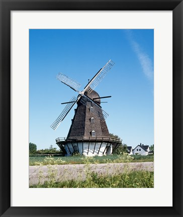 Framed Traditional windmill in a field, Malmo, Sweden Print