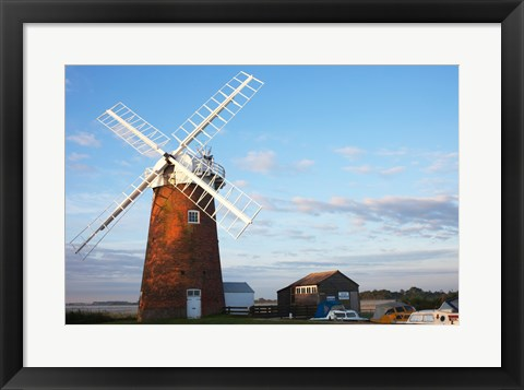 Framed Drainage windmill, Horsey Windpump, Horsey, Norfolk, East Anglia, England Print