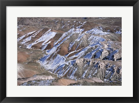Framed High angle view of a landscape, Painted Desert, Petrified Forest National Park, Arizona, USA Print
