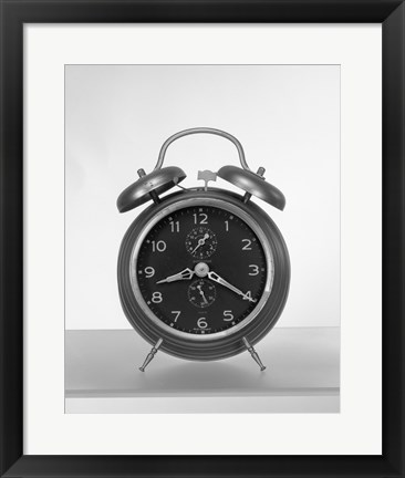 Framed Old fashioned alarm clock Print