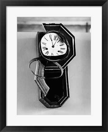 Framed Clock from Nagasaki, stopped at 11:02 AM, August 9, 1945 at the moment of the Atomic Bomb explosion,  Nagasaki, Japan Print