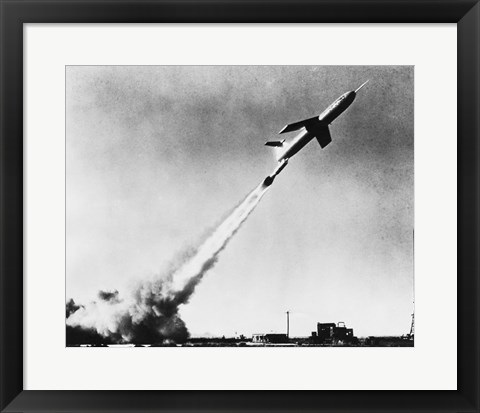 Framed Low angle view of a missile taking off, Martin TM-61B Matador Print