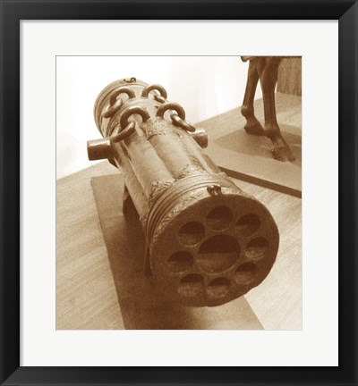 Framed Early 16th Century Ottoman Volley Gun Print