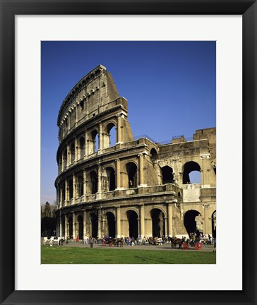 Framed Low angle view of a coliseum, Colosseum, Rome, Italy Vertical Print