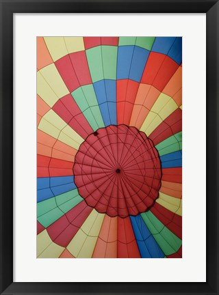 Framed High angle view of a hot air balloon Print