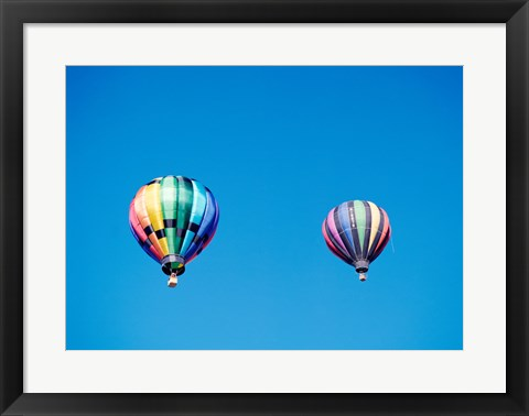Framed Two Hot Air Balloons Side by Side Print