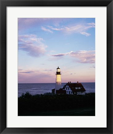 Framed Portland Head Lighthouse Vertical Cape Elizabeth Maine USA Print