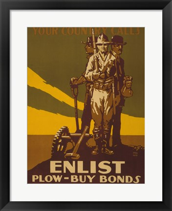 Framed Your Country Calls Buy Bonds Print