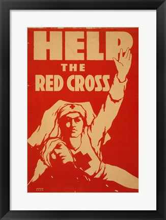 Framed Help the Red Cross Print