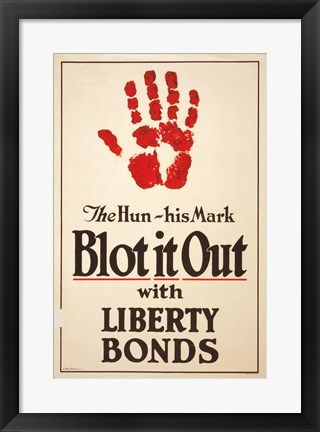 Framed Blot it Out with Liberty Bonds Print