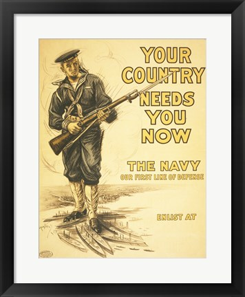 Framed Your Country Needs You Now Print