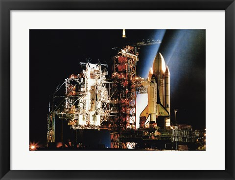 Framed Space Shuttle Columbia Print