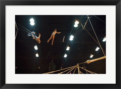 Framed Flying Redpaths Royal Hanneford Circus in action Print