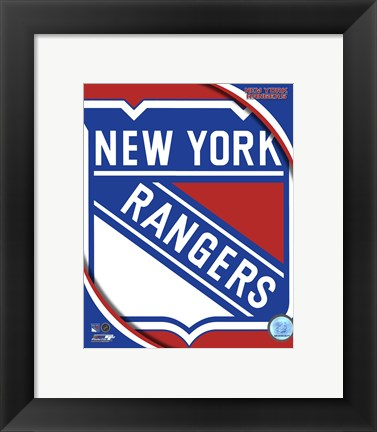 Framed New York Rangers 2011 Team Logo Print
