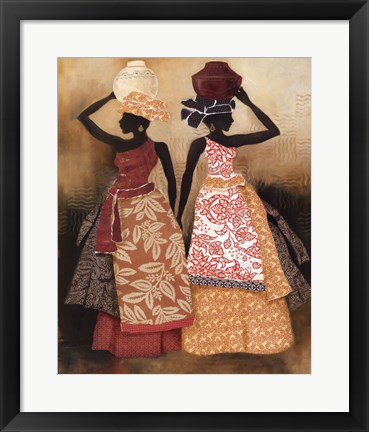 Framed Village Women II Print