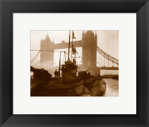 Framed National Archief Uboat 155 London Print