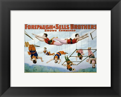 Framed Trapeze Artists 1899 Print