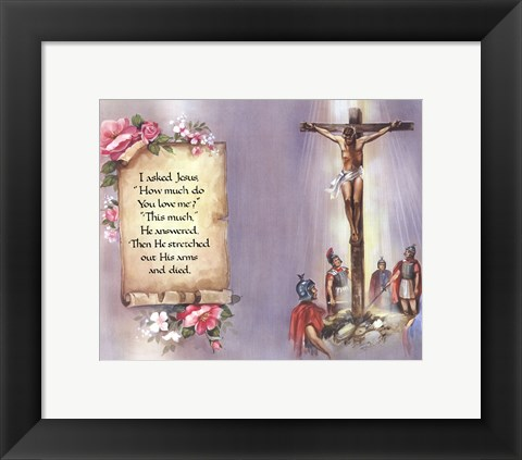 Framed I Asked Jesus (quote) Print