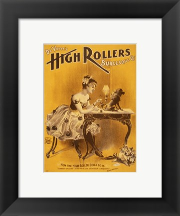 Framed How the High Rollers Girls Do It Print