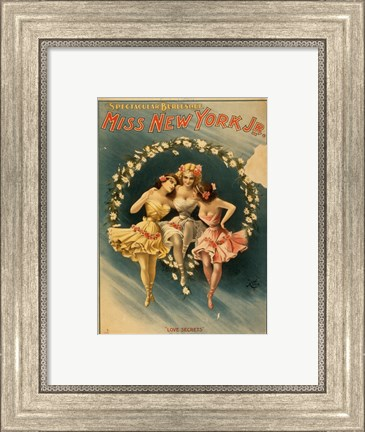 Framed Miss New York Jr. - Love Secrets Print